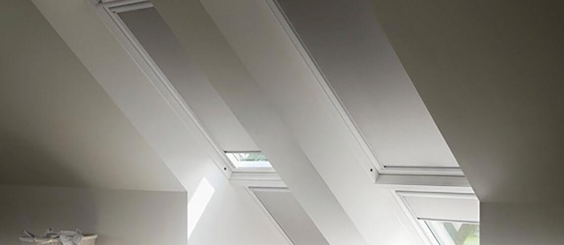dachfensterbeschattung sonnenschutz dachgeschoss